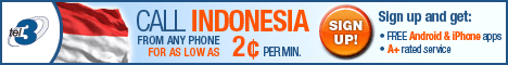 cheap calls indonesia