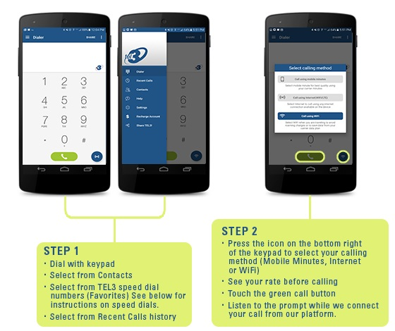 TEL3 App Steps for Android