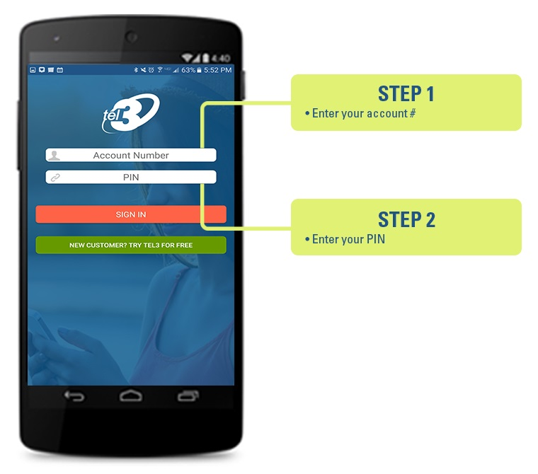 Sync Android Speed Dial numbers - Steps 1 to 3